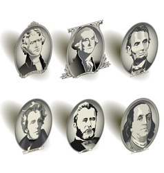 Money oval presidents vector