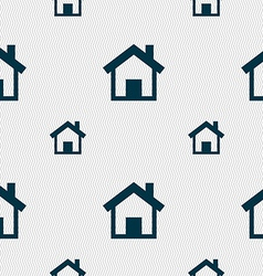 Home main page icon sign seamless pattern with vector
