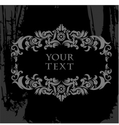 Black and white ornate grunge vector