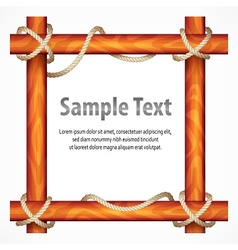 Wooden frame with rope vector