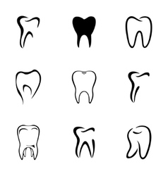 Teeth icon set vector