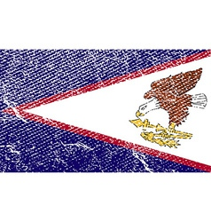 Flag of american samoa with old texture vector