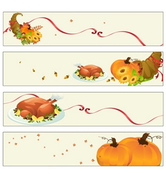 Thanksgiving banners vector