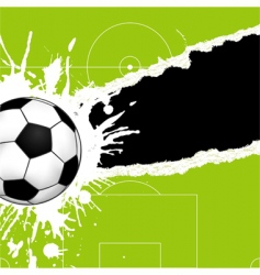 Soccer ball on torn paper vector