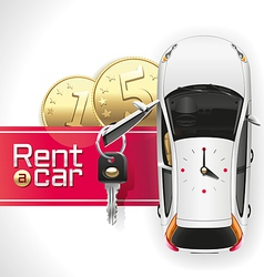 Rent a car on the red carpet vector