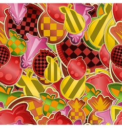 Seamless fruit vector