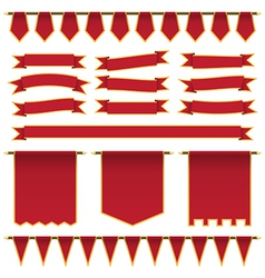 Red ribbons and banners vector