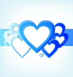 Valentines heart design vector