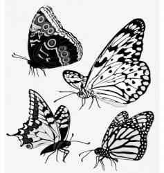 Tattoo butterflies vector