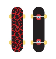 Skating on a white background vector