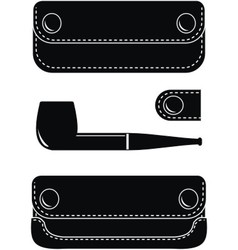 Pipe case pipe and key case vector