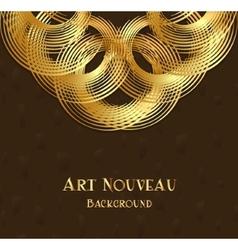 Geometric design element in art nouveau style vector