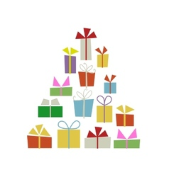 Christmas tree with gift boxes for your design vector