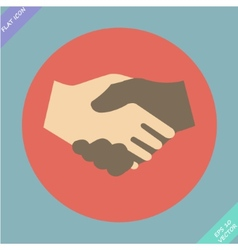 Handshake icon - vector