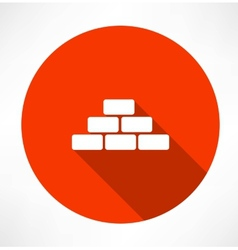 Bricks icon vector