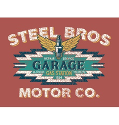 Motor company vintage sign vector