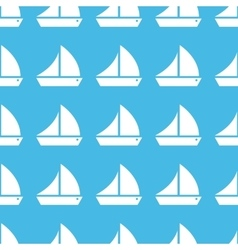 Sailing ship straight pattern vector