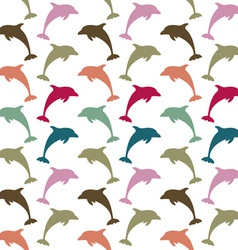 Colorful dolphin pattern vector