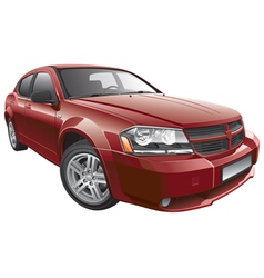 American mid size car vector