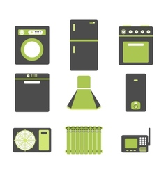 Household appliances vector