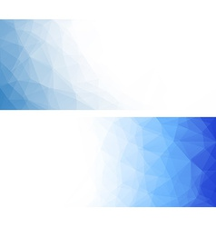 Abstract geometric polygonal banners vector