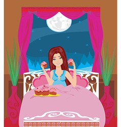 Night snacking vector