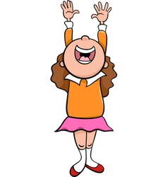 Happy girl cartoon vector
