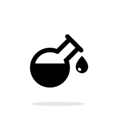 Drop from florence flask simple icon on white vector