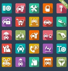 Auto service icon set - flat design vector