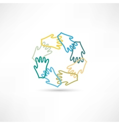 Group hands icon icon vector