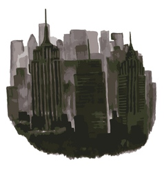 Stylized skyscrapers metropolis vector
