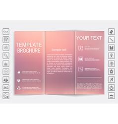 Tri-fold brochure mock up design blur background vector