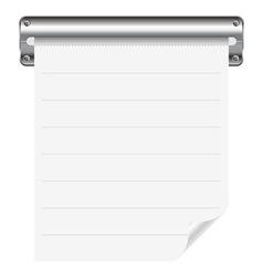 Receipt paper vector