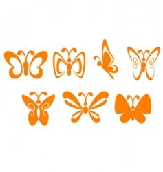 Butterfly symbols vector