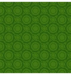 Green colors pinwheel pattern vector