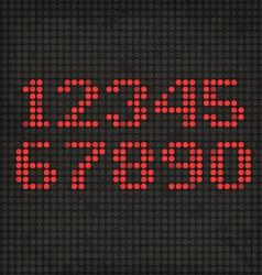 Led display scoreboard dot grunge digits vector