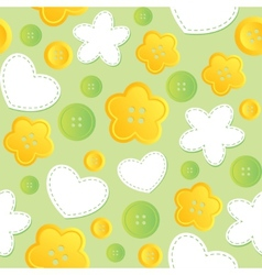 Seamless pattern with sewing buttons vector