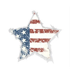 Star grunge american flag background eps 10 vector