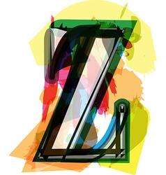 Artistic font - letter z vector