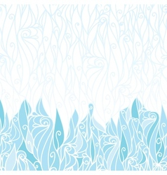 Abstract frost swirls texture horizontal seamless vector