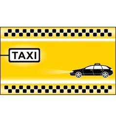 Yellow modern taxi background vector