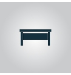 Writing desk vector
