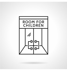 Cafe playroom black line icon vector