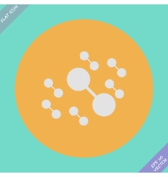 Molecule connect icon - vector