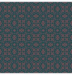 Charcoal colors art nouveau style plant pattern vector