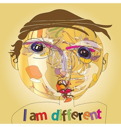 I am different vector