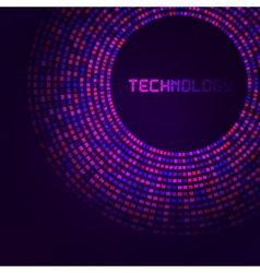 Violet technology round for your logo template vector