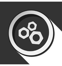 Dark gray icon with nuts vector