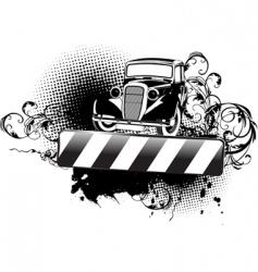 Grunge vintage car vector