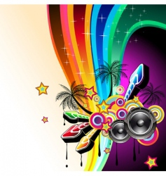 Dj dance poster vector
